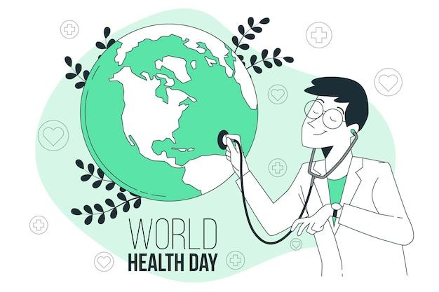 Иллюстрация концепции всемирного дня здоровья Бесплатные векторы