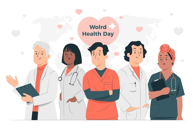 World health day concept illustration Free Vector