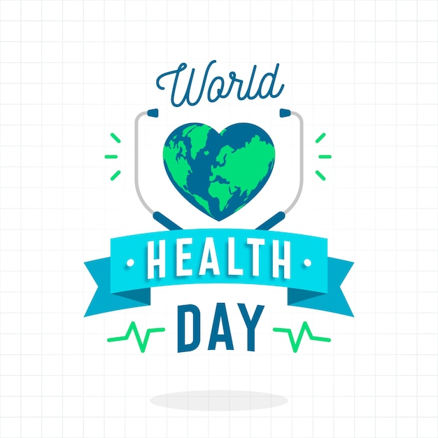 World health day event theme Free Vector