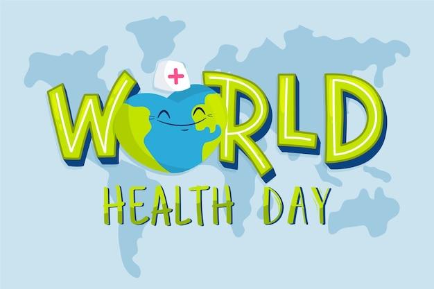 フラットなデザインの世界保健デー 無料ベクター