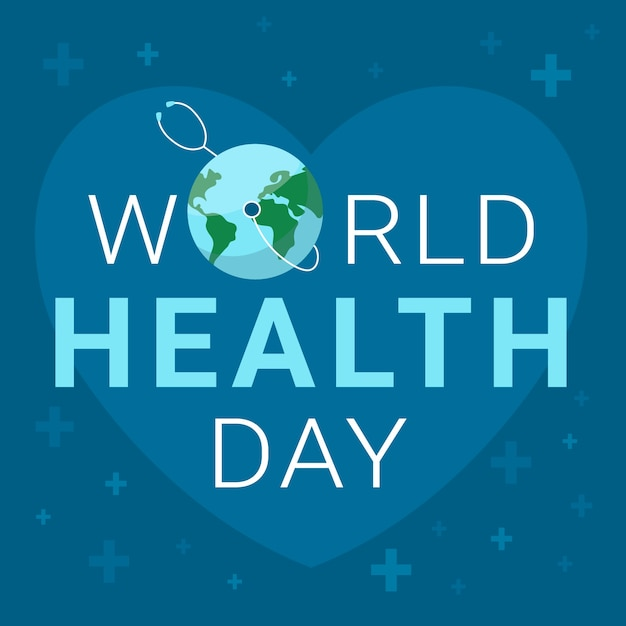 World health day wallpaper with earth Free Vector