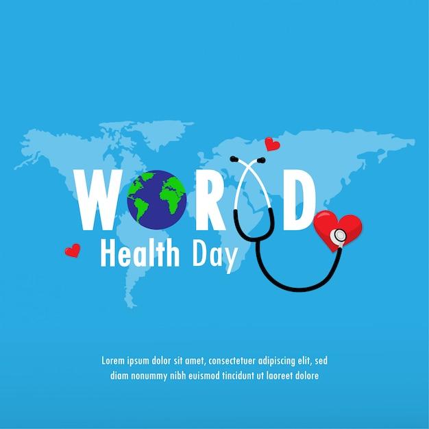 World health day Premium Vector