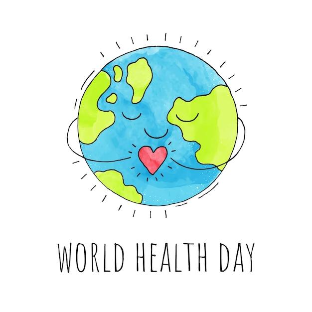 World health day. Premium Vector