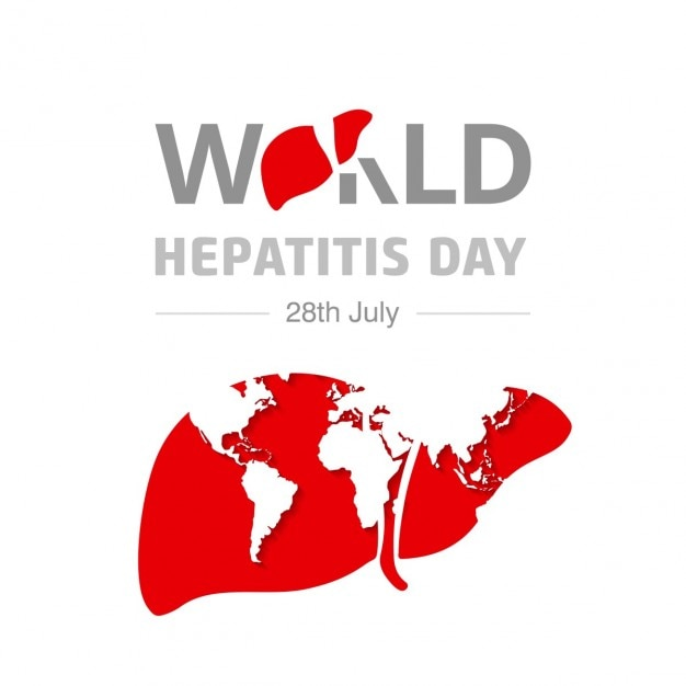 World hepatitis day background with map Free Vector