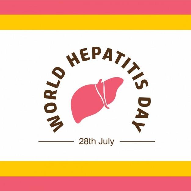Banne или плакат для мирового гепатита день Бесплатные векторы
