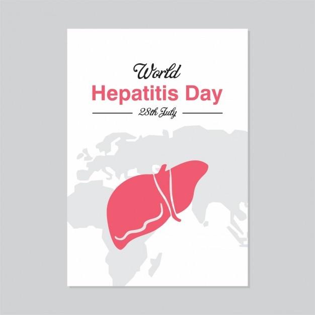 Плакат шаблон 28 июля всемирный день борьбы с гепатитом Бесплатные векторы
