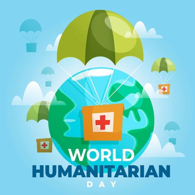 Concetto di giornata umanitaria mondiale Vettore gratuito