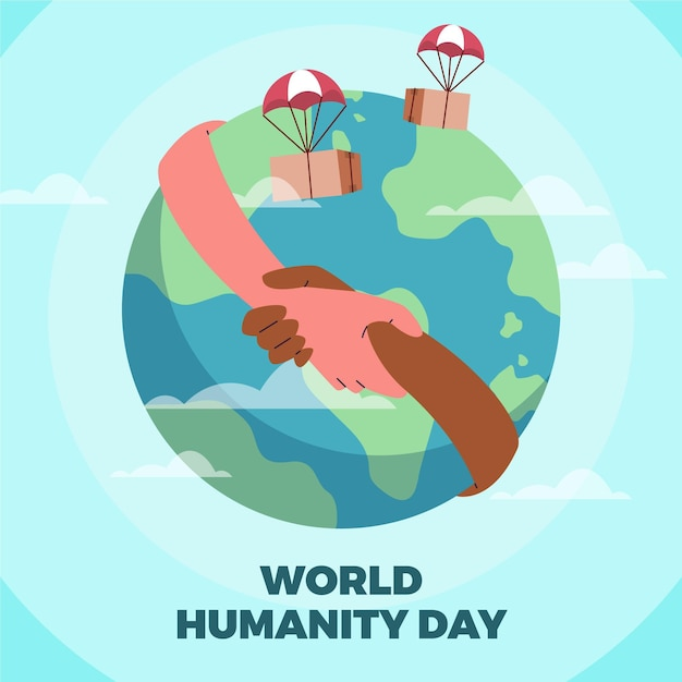 World humanitarian day Free Vector