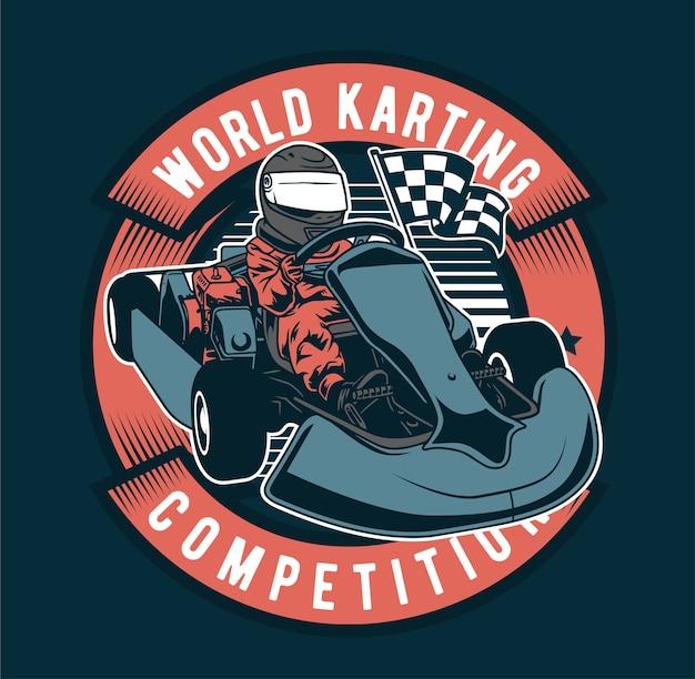 World karting championship Premium Vector
