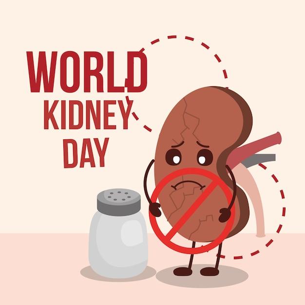 World kidney day Premium Vector