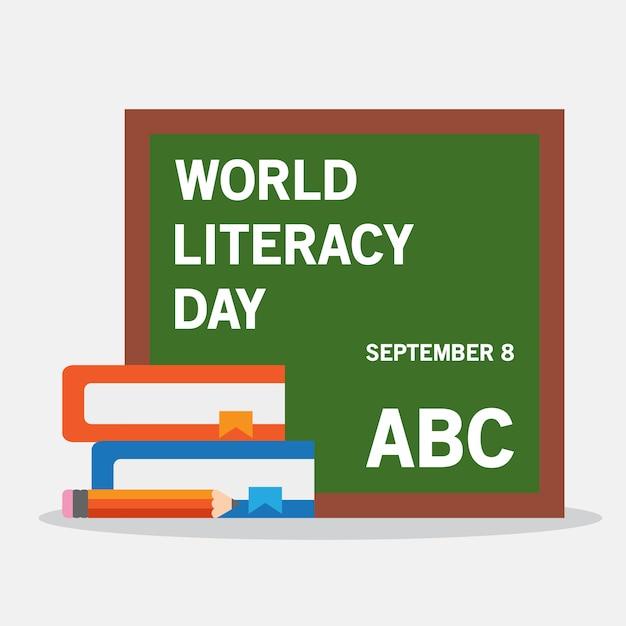World literacy day Premium Vector