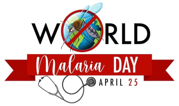 Banner di giornata mondiale contro la malaria con segno di zanzara Vettore gratuito