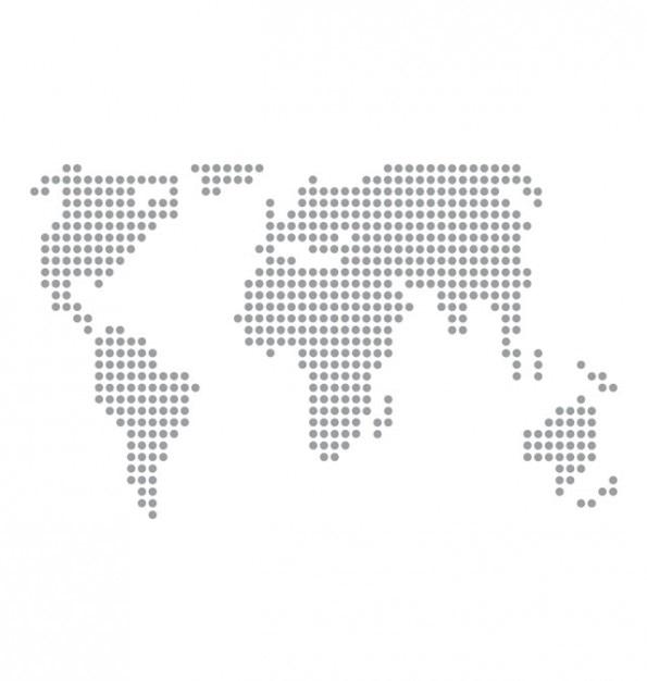 World map basic dots vector. Free Vector