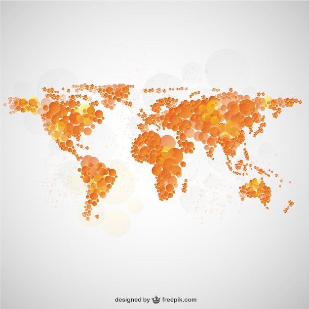 World map bubble design vector free download world map bubble design free vector gumiabroncs Images