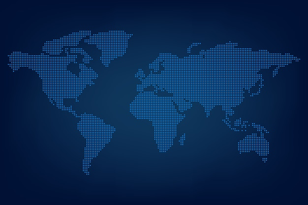 World map dots Premium Vector