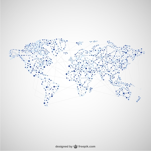 World map global network design vector free download world map global network design free vector gumiabroncs Choice Image