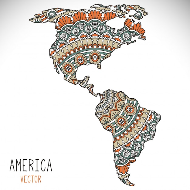 World Map Illustration In Mandala Style Vector Free Download