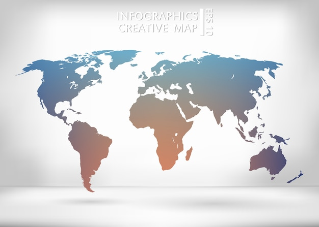 World map illustration. Premium Vector
