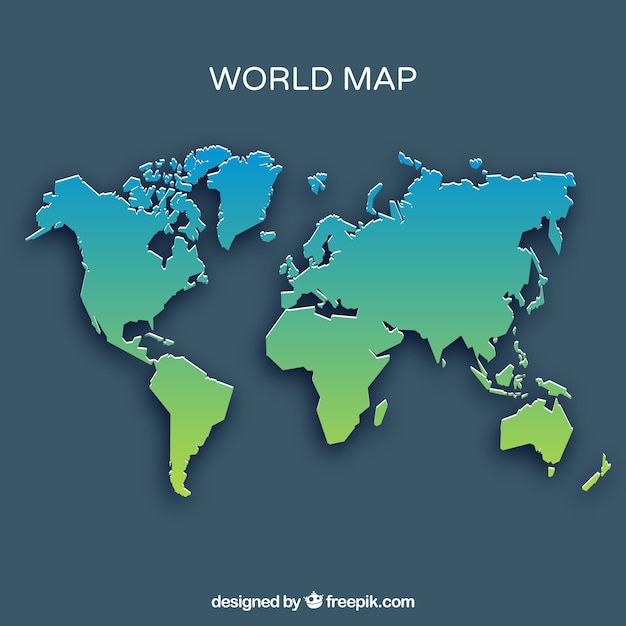 World map in green and blue tones vector free download world map in green and blue tones free vector gumiabroncs Image collections
