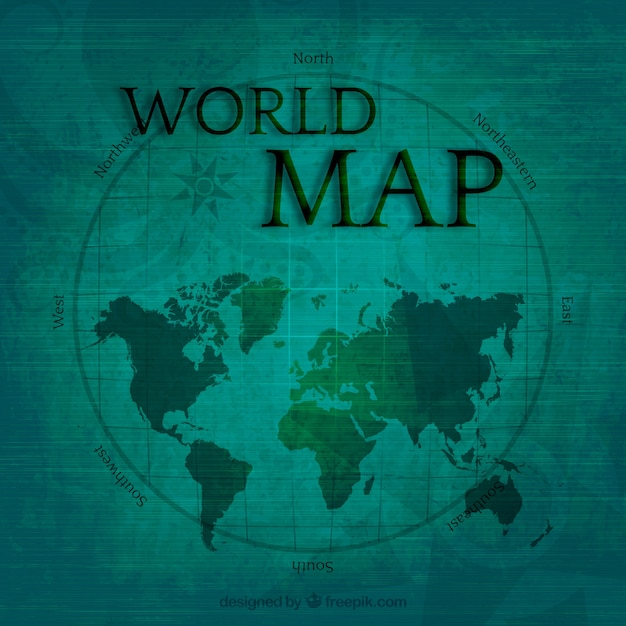 World map in vintage style vector free download world map in vintage style free vector gumiabroncs Gallery