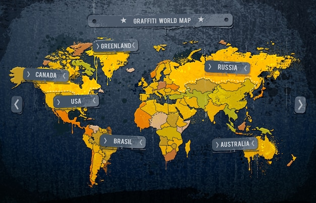 world map infographic design Free Vector
