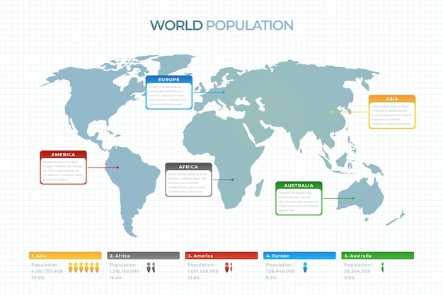 World map infographic flat design template Free Vector