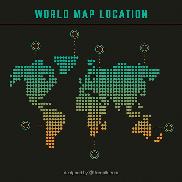 World Map Location Vector Free Download