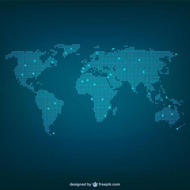 World map made of dots Premium Vector