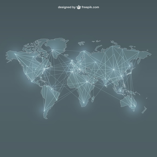 World map networking vector free download world map networking free vector gumiabroncs Gallery