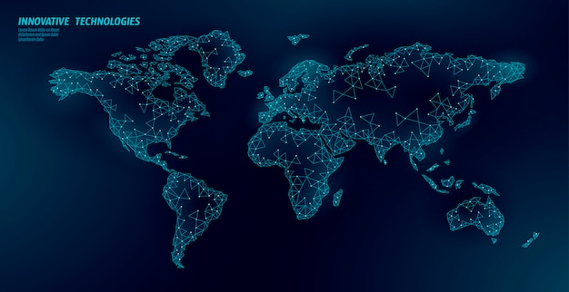 World map planet earth global business connection. Premium Vector