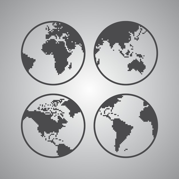 World map theme Premium Vector