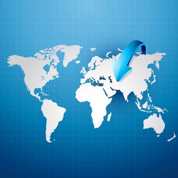 World map with arrow vector premium download world map with arrow premium vector gumiabroncs Gallery