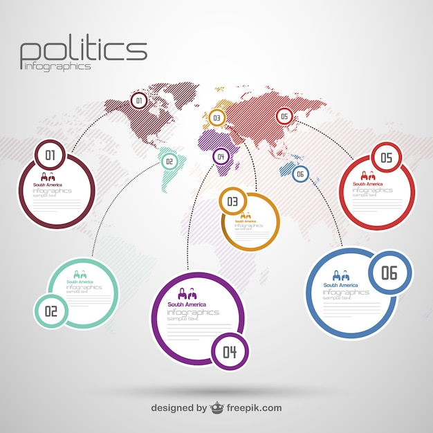 World map with labels Vector | Free Download
