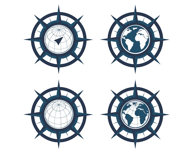 World map with wind rose navigation compass vector premium download world map with wind rose navigation compass premium vector gumiabroncs Image collections