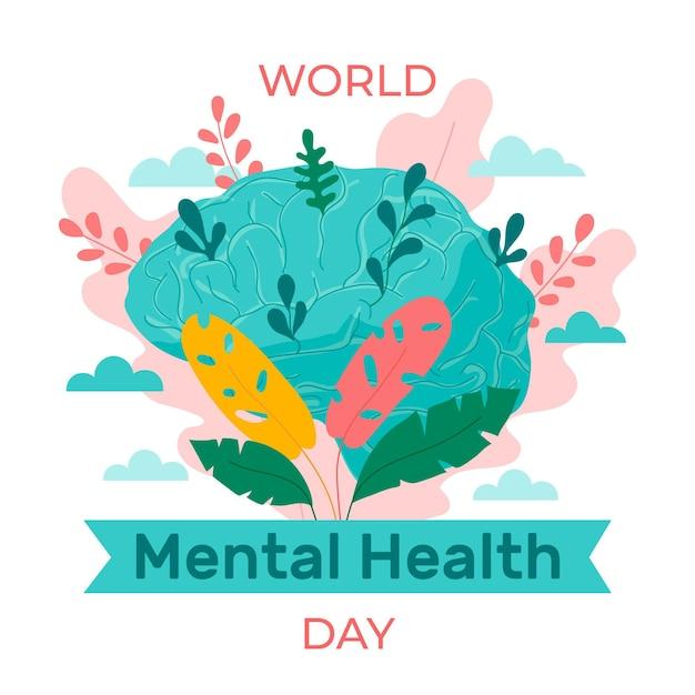 World mental health day awareness | Free Vector