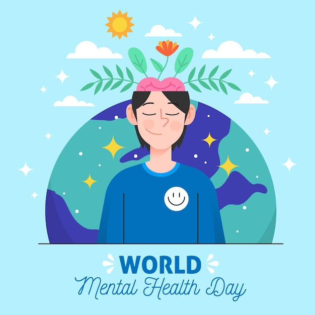 Free Vector World Mental Health Day Hand Drawn Background