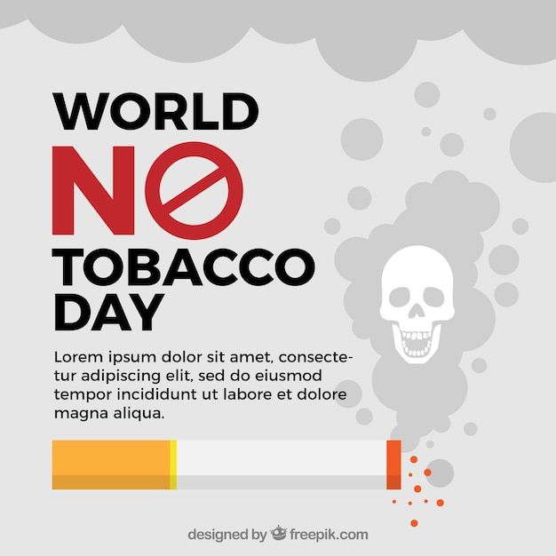 World no tobacco day background template Free Vector