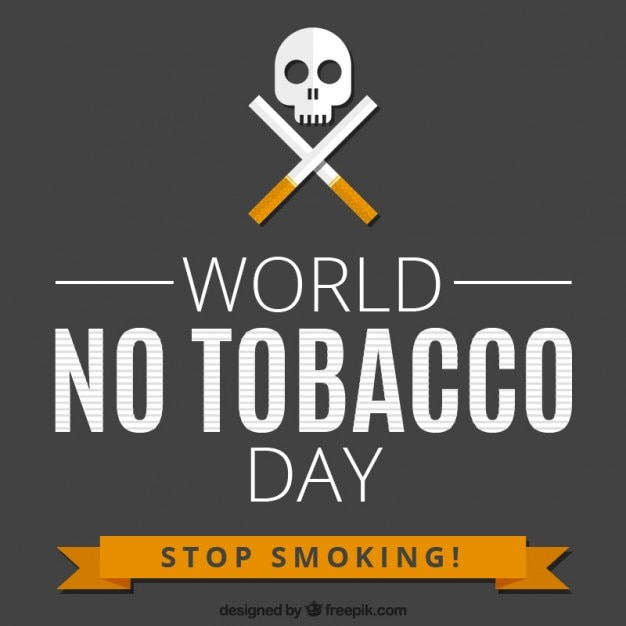 world no tobacco day background vector premium download
