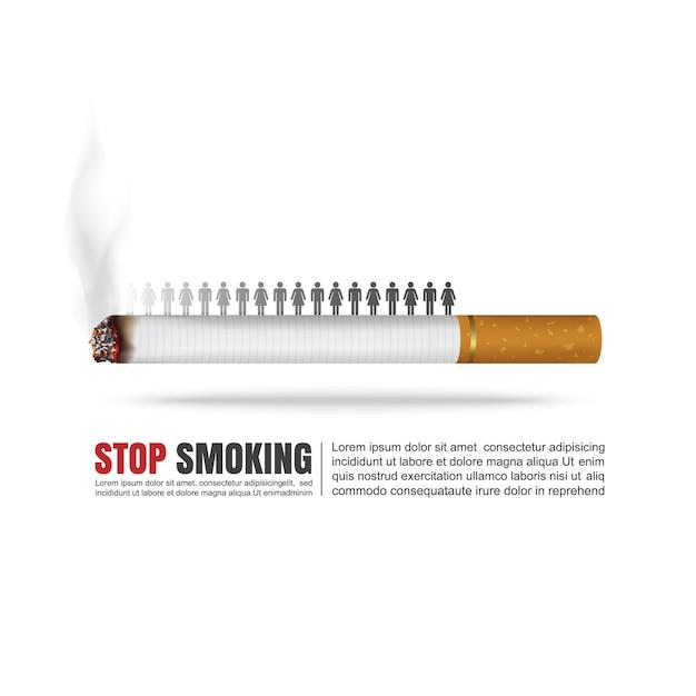 World no tobacco day concept. Premium Vector