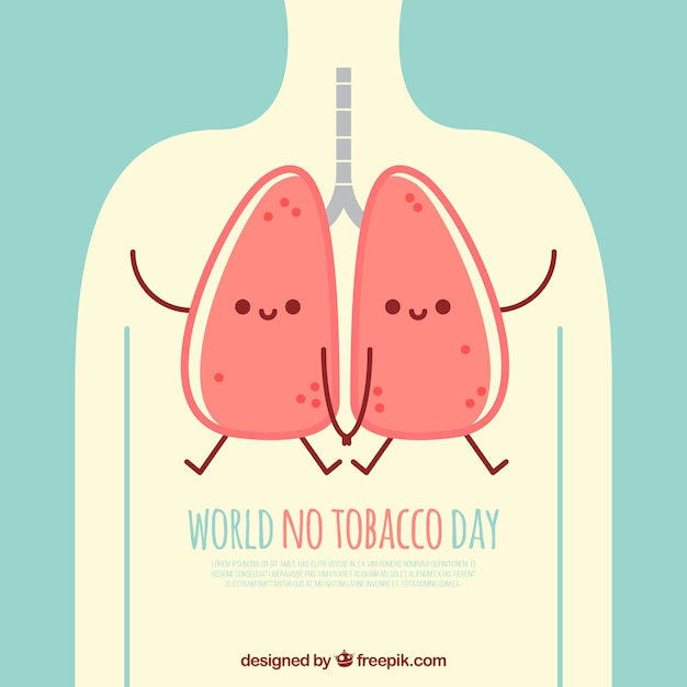 World no tobacco day lung illustration Free Vector
