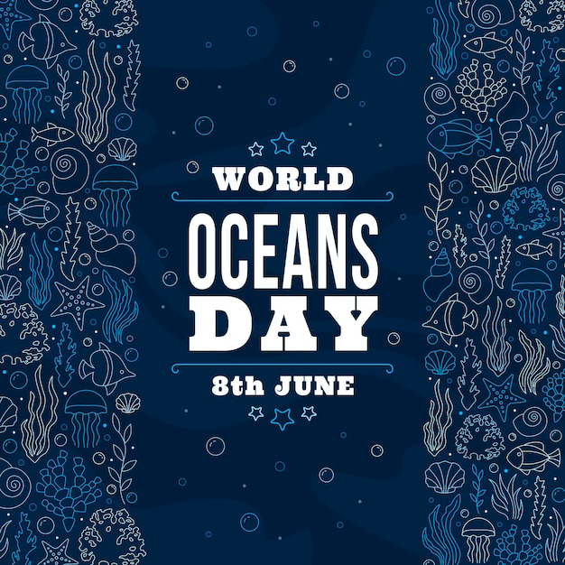 World oceans day Free Vector