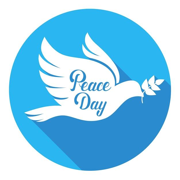 World Peace Day Poster White Dove Bird Symbol Vector Premium Download