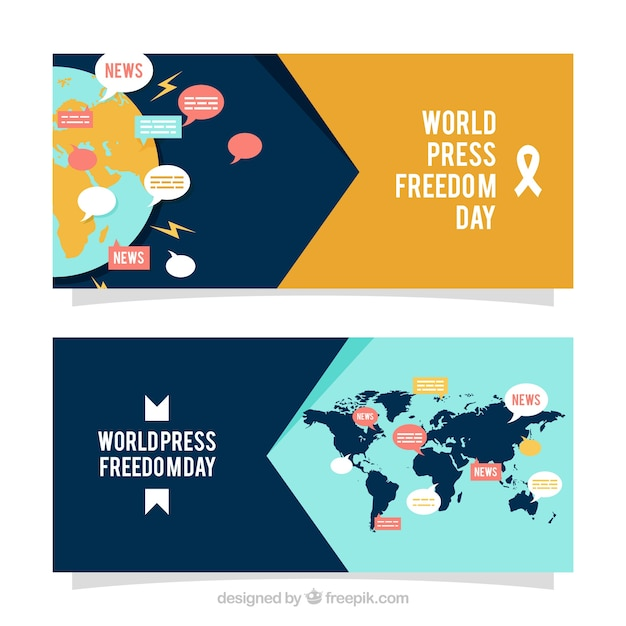 World press freedom day banners