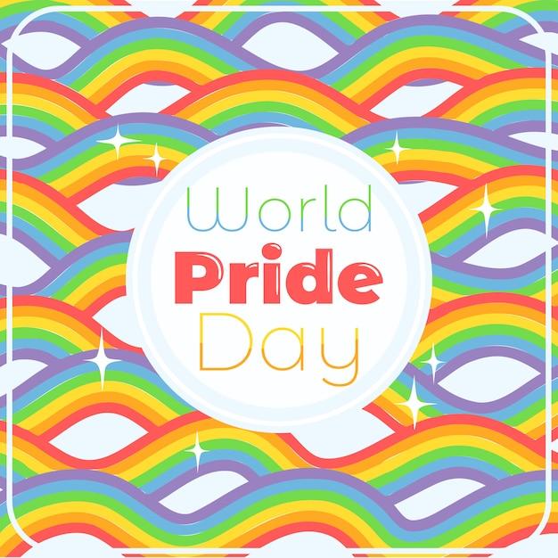 World pride day rainbow background Premium Vector