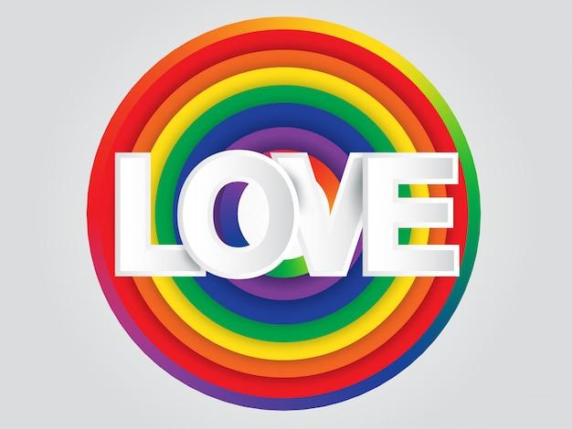 World pride earth rainbow circle background Premium Vector
