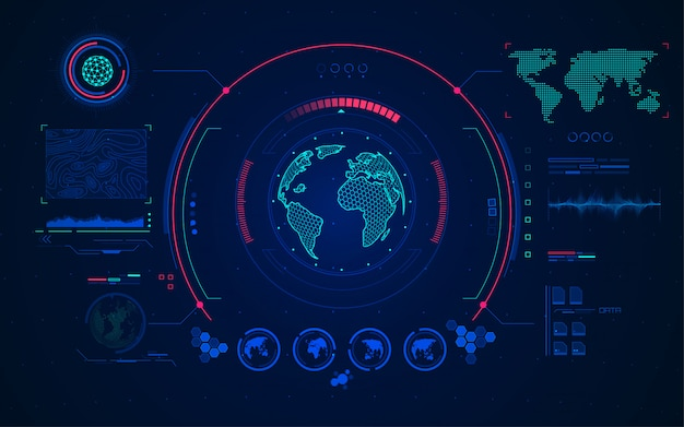 World radar Premium Vector