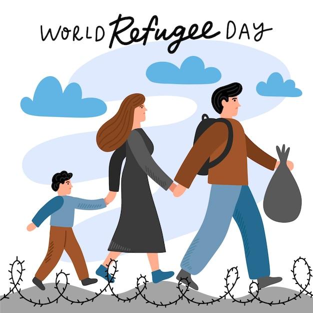 世界難民の日抽選 無料ベクター