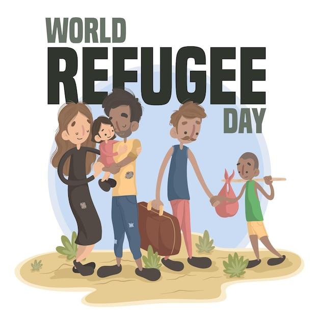 世界難民の日 無料ベクター