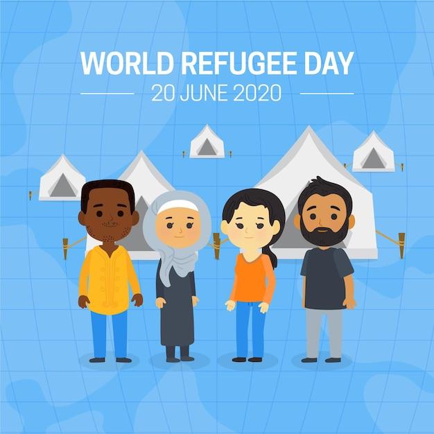 Giornata mondiale del rifugiato Vettore gratuito