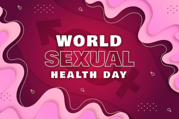 Giornata mondiale della salute sessuale sfondo Vettore gratuito